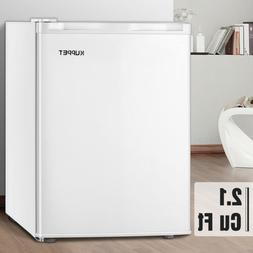 2.1 CuFt Compact Upright Freezer w/Adjustable Thermostat & R