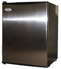 SPT 2.5 cu.ft Compact Refrigerator Stainless Door with Black