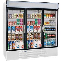 """Beverage-Air MMF72-5-W-LED MarketMax 75"""" Three Section Glass"""
