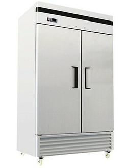 ChefsFirst Solid 2 Door Upright Reach-In Commercial Freezer