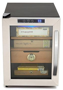 Cigar Humidor Cabinet Stainless Steel Cooler Whynter Humidor