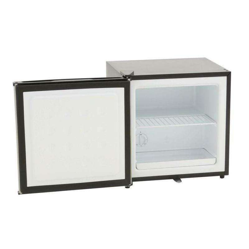 1.1 ft. Compact Freezer in Stainless Steel,