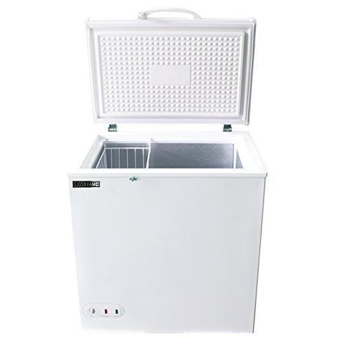 Maxx 5.2 Cubic Feet 147 Hinged Top Zero Commercial Locking NSF Ready Defrost Keeps Frozen In Case Power Outage, In White