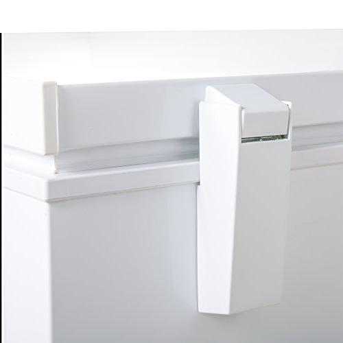 Maxx Feet 147 Hinged Top Sub Commercial Chest Locking Ready Manual Outage, W, White