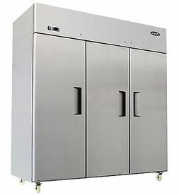 ATOSA MBF8003 THREE 3 DOOR STAINLESS STEEL COMMERCIAL FREEZE