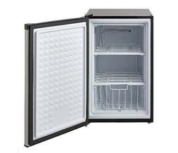 UPRIGHT FREEZER Small Mini 3 Cu Ft Shelves Stainless Steel