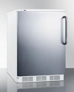 """Summit VT65M7SSTB 24"""" Commercially Approved Upright Freezer"""